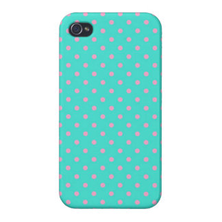 iPhone 4 Case Savvy Turquoise and Pink Polka Dot