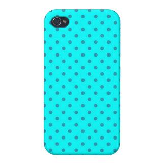 iPhone 4 Case Savvy Turquoise Polka Dot