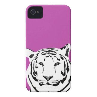 iPhone 4 Case - Tiger on Cerise