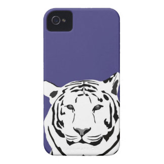 iPhone 4 Case - Tiger on Purple