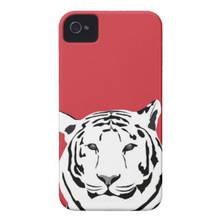 iPhone 4 Case - Tiger on red