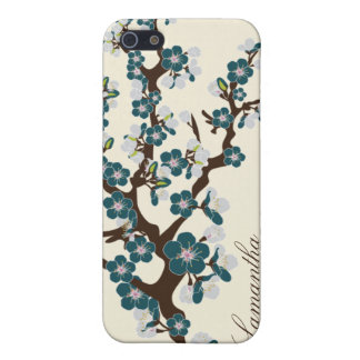 iPhone 4 Cherry Blossom Speck Case (teal) iPhone 5/5S Case