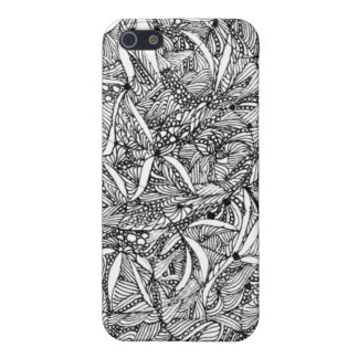 iphone 4 Flowers in black and white iPhone 5/5S Covers