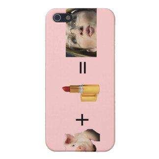 IPhone 4 G / Sara Palin / Lip Stick on a Pig = iPhone 5 Cover