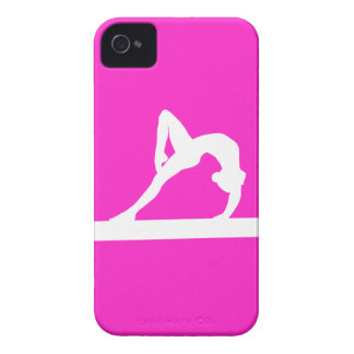 IPhone 4 Gymnast Silhouette White On Pink Case Mate Cases