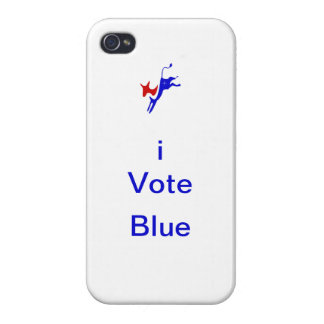 "iPhone 4 ""iVote Blue"" Case Covers For iPhone 4"