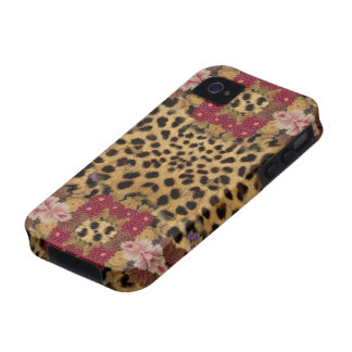 iPhone 4, Lives animal print flowers iPhone 4/4S Cases