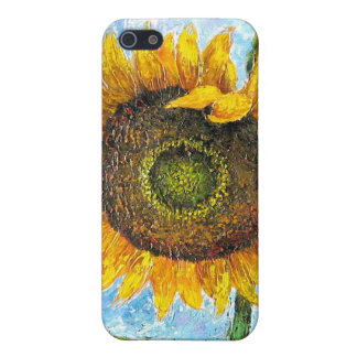 iPhone 4 or 4S Cases Sunflower Flower Painting Cover For iPhone 5