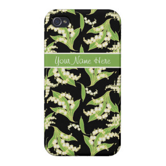 iPhone 4 Savvy case: Lilies of the Valley, Black iPhone 4/4S Cover