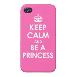 iPhone 4 Savvy Hot Pink Keep Calm & Be a Princess iPhone 4 Covers