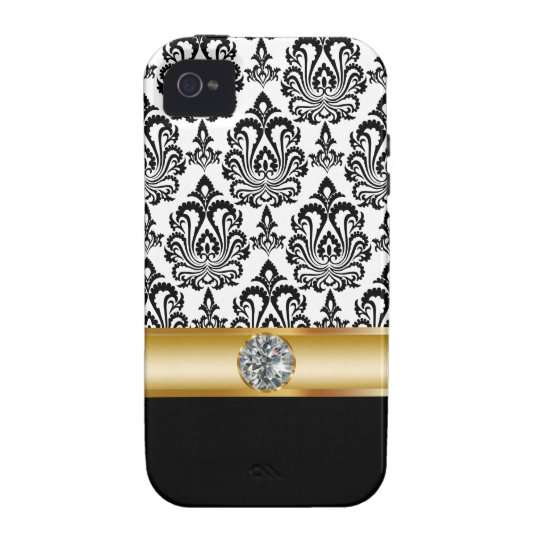 iPhone 4 Simulated Jewel Bling Case