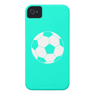 iPhone 4 Soccer Ball Silhouette Turquoise iPhone 4 Cover