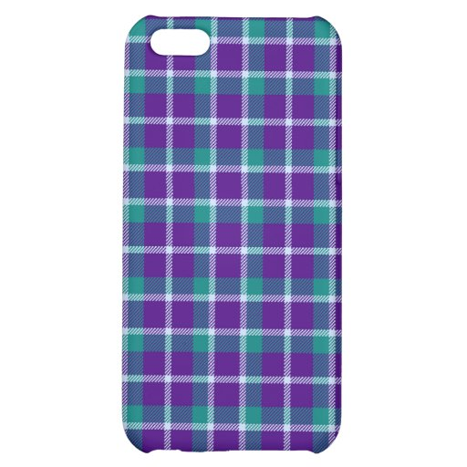 iPhone 4 *Speck Case - Plaid Purple / Teal iPhone 5C Cover