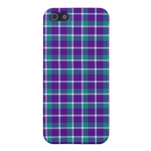 iPhone 4 *Speck Case - Plaid Purple / Teal Covers For iPhone 5