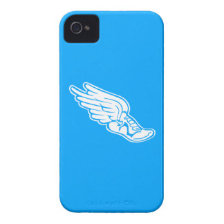 iPhone 4 Track Logo White on Blue iPhone 4 Covers