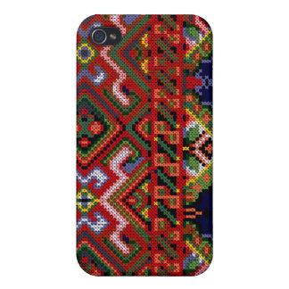 iPhone 4 Ukrainian Cross Stitch Print Hard Case iPhone 4 Cases
