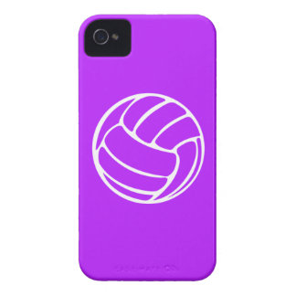 iPhone 4 Volleyball White on Purple iPhone 4 Case-Mate Case