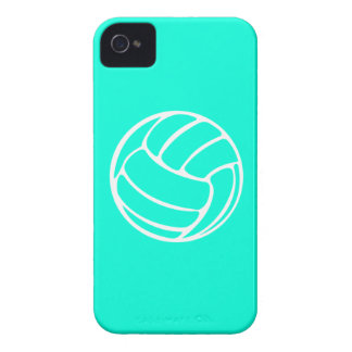 iPhone 4 Volleyball White on Turquoise Case-Mate iPhone 4 Case