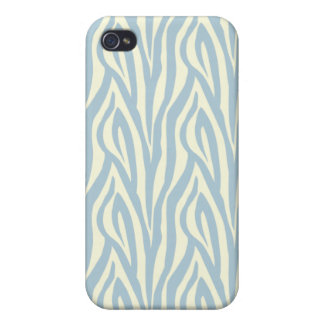 iPhone 4 Zebra Pattern Case (light blue) Case For The iPhone 4