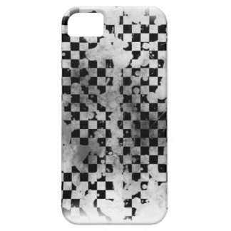 Iphone 5/5S Black and White Checker iPhone 5 Covers
