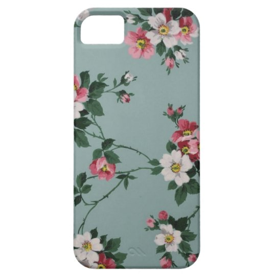 iPhone 5/5s Blue Vintage Floral iPhone 5 Cover