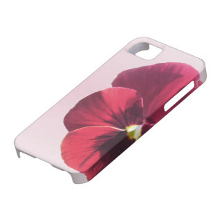 iPhone 5/5S Case - Dark Red Pansy