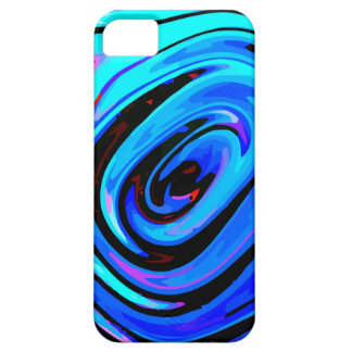 "iPhone 5/5S Case ""Feeling Blue"" Colorful Abstract"