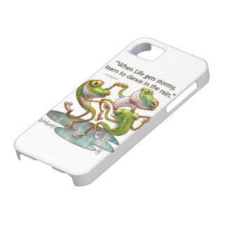 iPhone 5/5S Case: Frogs Dancing in Rain With Quote Case For The iPhone 5