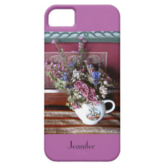 iPhone 5 5s Case Teapot Flowers Radiant Orchid