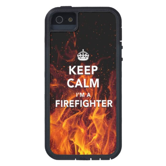 "iPhone 5/5S ""Keep Calm I'm a Firefighter"" Case"