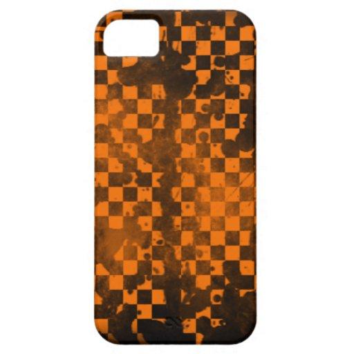 Iphone 5/5S Orange Checker iPhone 5/5S Cover