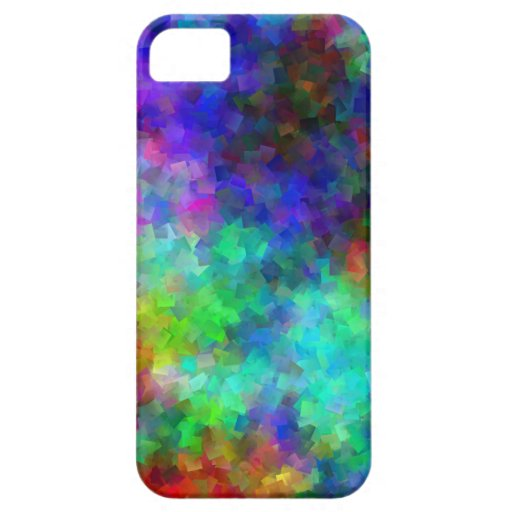 Iphone 5/5S Rainbow Blocks Cover For iPhone 5/5S