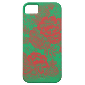 Iphone 5/5S Red Floral Barely There iPhone 5 Case