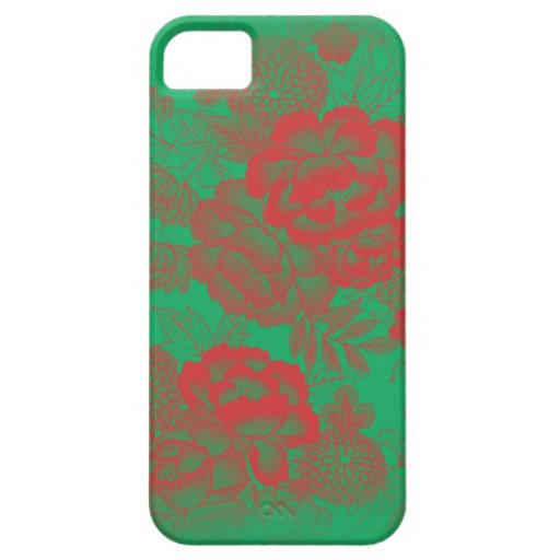 Iphone 5/5S Red Floral iPhone 5 Case
