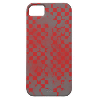 Iphone 5/5S Red on Gray Checker iPhone 5 Covers