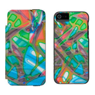 iPhone 5/5s Wallet Case Colorful Stained Glass Incipio Watson™ iPhone 5 Wallet Case