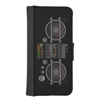 iPhone 5/5s Wallet Vintage Ghetto Blaster Boombox Phone Wallet