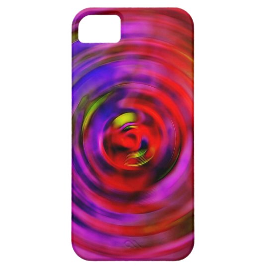 iPhone 5 Barely There Case Hot Pink Spiral