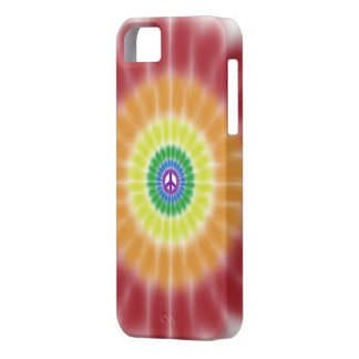iPhone 5 Barely There Case, Rainbow Peace Burst Case For The iPhone 5