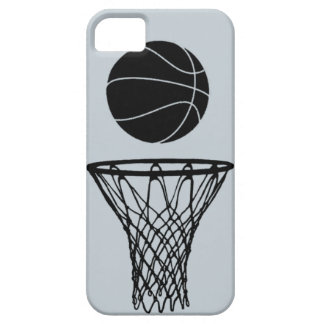 iPhone 5 Basketball Silhouette Black on SIlver iPhone 5 Covers