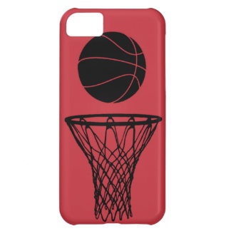 iPhone 5 Basketball Silhouette Bulls Red iPhone 5C Case