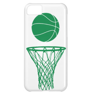 iPhone 5 Basketball Silhouette Green on White iPhone 5C Case