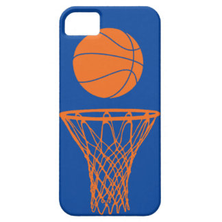 iPhone 5 Basketball Silhouette Knicks Blue iPhone 5 Cases