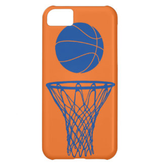 iPhone 5 Basketball Silhouette Knicks Orange iPhone 5C Case