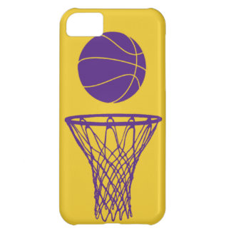 iPhone 5 Basketball Silhouette Lakers Gold iPhone 5C Cases