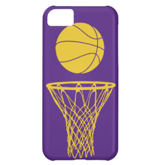 iPhone 5 Basketball Silhouette Lakers Purple iPhone 5C Covers