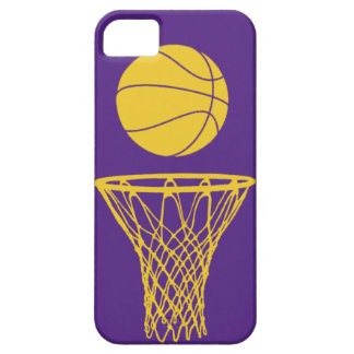 iPhone 5 Basketball Silhouette Lakers Purple iPhone 5 Case