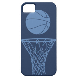 iPhone 5 Basketball Silhouette Light Blue on Dark Barely There iPhone 5 Case