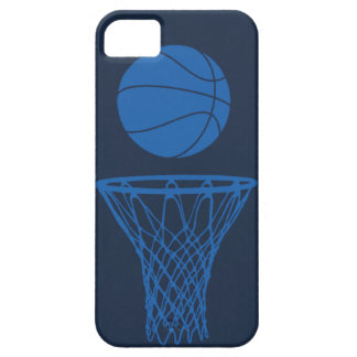 iPhone 5 Basketball Silhouette Maverick Blue Dark iPhone 5 Covers