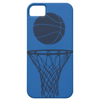 iPhone 5 Basketball Silhouette Maverick Blue Light iPhone 5 Covers